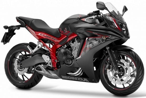 CBR650F Mat Black/Red Plastic Parts (NH436/NH436K)
