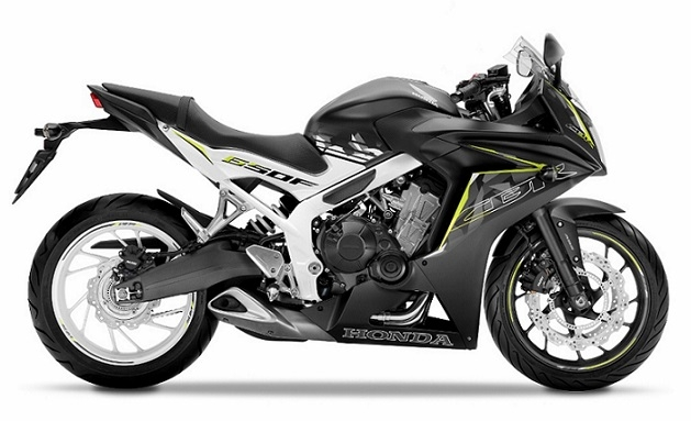 CBR650F Mat Black/White Plastic Parts (NH436/NH436X)