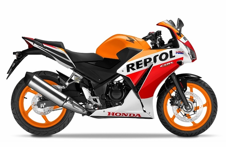 CBR300R Orange/White Plastic Parts (YR271)