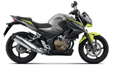 Honda CB300F Silver/Lime Plastic Parts (NHA40M)