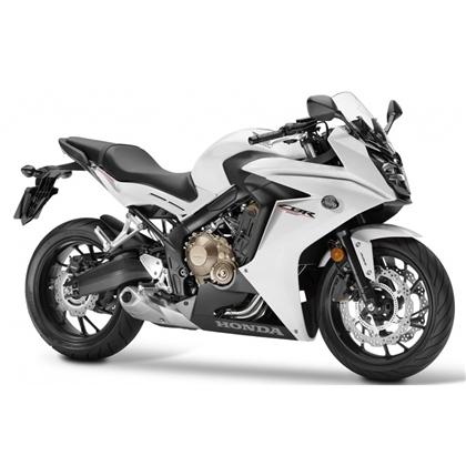 Honda CBR650F White/Black Plastic Parts (NHA96P)