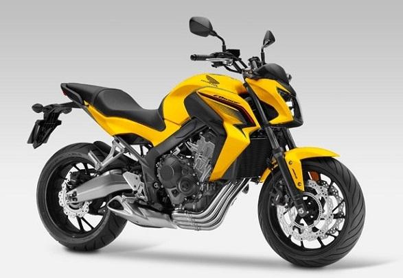 Honda CB650F Yellow Plastic Parts (Y217P)