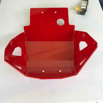 Honda CRF250L/M Heavy Duty Skid Bash Plate-Red