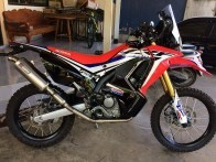 Honda CRF250 Rally Full system Exhaust with muffler