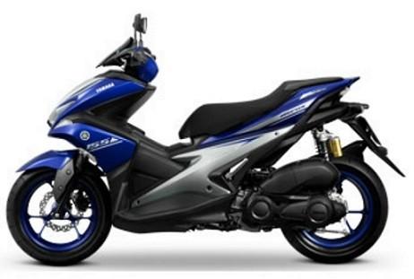 Yamaha Aerox Blue Decal & Emblem Set