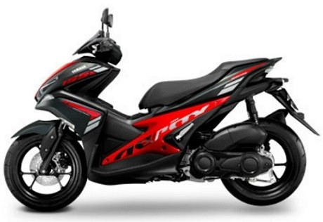 Yamaha Aerox Black/Red Decal & Emblem Set