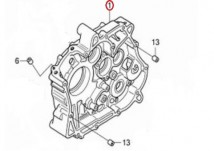 CRANK CASE,COMP,R 11100-KPP-900