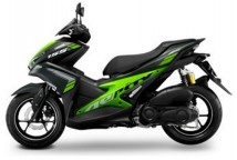 Yamaha Aerox Black/Green Decal & Emblem Set