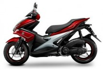 Yamaha Aerox Red/Silver Decal & Emblem Set
