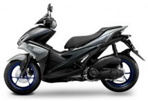 Yamaha Aerox Gray/Blue Decal & Emblem Set
