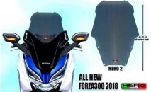 Honda Forza 300 2018 Hero 2 Windshield