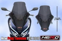 Honda PCX 150 2018/2019 New Puig Twotone Windshield