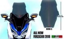 Honda Forza 300 2018 Hero 3 Windshield