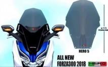 Honda Forza 300 2018 Hero 5 Windshield
