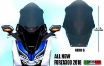 Honda Forza 300 2018 Hero 6 Windshield