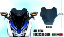 Honda Forza 300 2018 Hero 7 Windshield