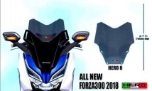 Honda Forza 300 2018 Hero 8 Windshield