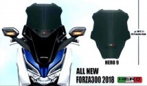 Honda Forza 300 2018 Hero 9 Windshield