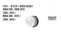 Z250/Z300/Ninja 250/300 Hurricane Open Air Filter (Stainless Steel)