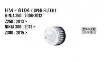 Z250/Z300/Ninja 250/300 Hurricane Open Air Filter (Stainless Steel)