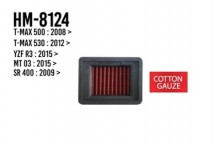 T-MAX 500/530/YZF-R3/MT-03/SR400 Hurricane Air Filter (Cotton Gauze)